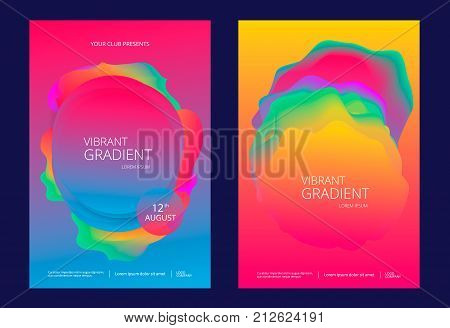 Creative design poster with vibrant gradients. Colorful brigth backgrounds.