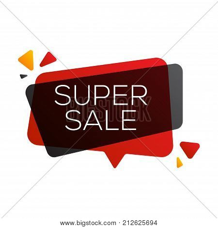 Black friday sale banner design template. End of season discounts vector illustration.