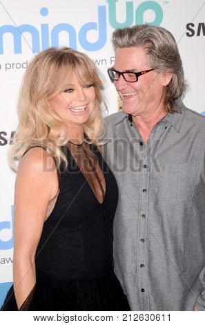 LOS ANGELES - OCT 3:  Goldie Hawn, Kurt Russell at the Goldie's Love In For Kids at the Green Acres Estate on October 3, 2017 in Beverly Hills, CA