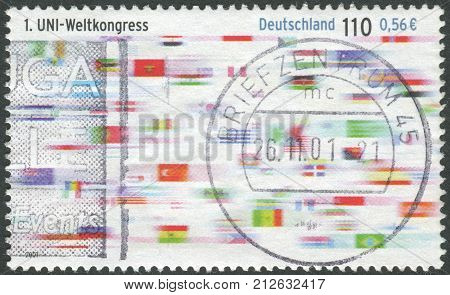 GERMANY - CIRCA 2001: Postage stamp printed in Germany dedicated to First World Congress of Union First World Congress of Union circa 2001