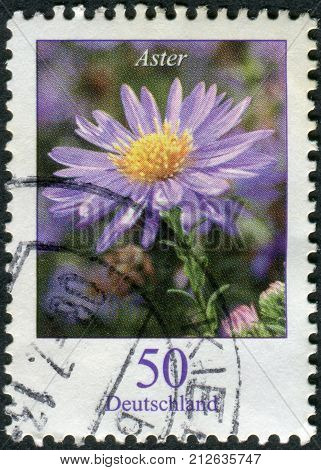 GERMANY - CIRCA 2005: Postage stamp printed in Germany shows a flowering Asters circa 2005