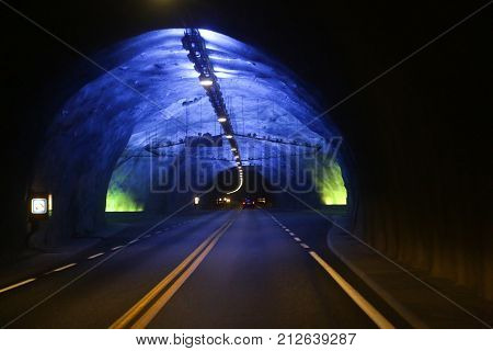 Laerdal Tunnel in Norway the longest road tunnel in the world