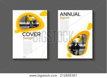yellow free from background modern cover design modern book cover abstract Brochure cover templateannual report magazine and flyer layout Vector a4