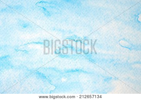 Blue abstract watercolor painting textured on white paper background watercolor background for art and design concept