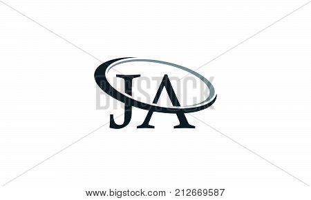 Letter JA Modern Logo Design Template Vector