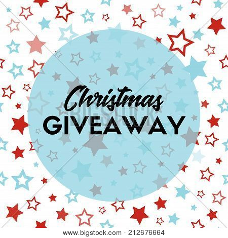 Christmas giveaway. Vector banner template for blogs