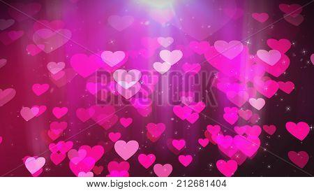 Soaring Love Hearts Illustration