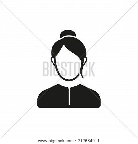 Simple icon of woman. Businesswoman, principal, head teachers office. School wayfinding concept. Can be used for topics like business, education, staff