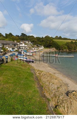 Helford Passage west Cornwall England UK a village located on Helford River