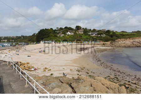 Swanpool beach Falmouth Cornwall England UK located between between Maenporth and Gyllyngvase