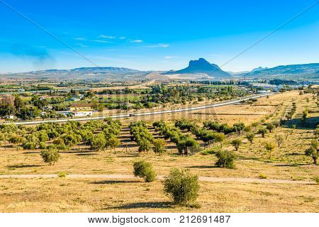 View at the nature near Dolmens Site in Antequra - Spain