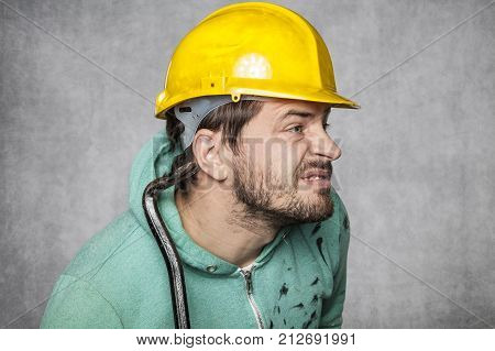 The Worker Puts Up An Ear To Eavesdrop On Others