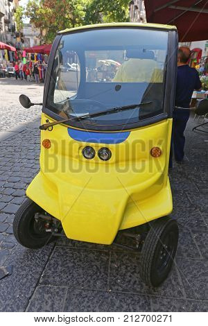 Micro Electric Utility Car in Naples Italy