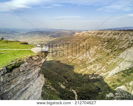 Delika Canyon With River Nervion, Alava, Spain