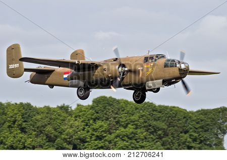 B-25 Mitchell Bomber Airplane