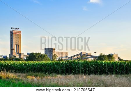 WOLA, POLAND - JULY 29, 2017: Building of hard coal mine Piast 2 in Wola, Poland.