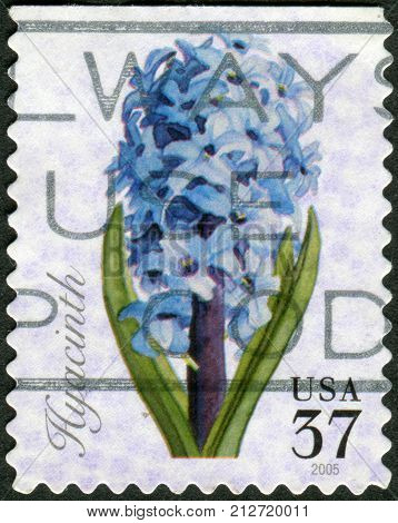 USA - CIRCA 2005: Postage stamps printed in USA shows flower Hyacinth circa 2005