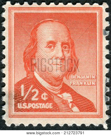 Usa - Circa 1955: Postage Stamp Printed In The Usa, A Portrait Of 6Th President Of Pennsylvania, The