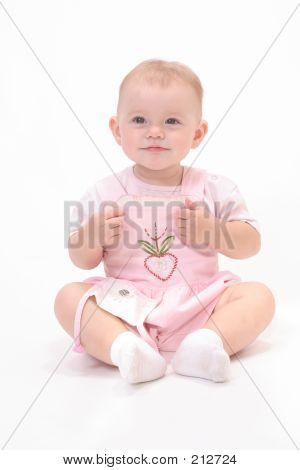 Baby In White Background