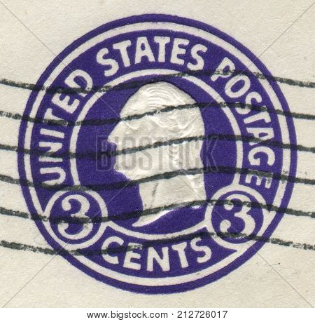 Usa - Circa 1920: Postage Stamps Printed In Usa, Shows A Portrait Of 1St President Of The United Sta
