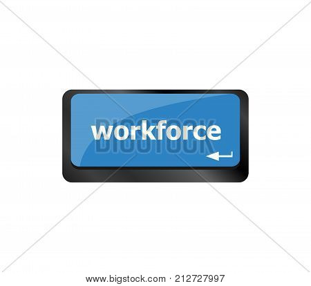 Workforce Keys On Computer Keyboard - Business Concept