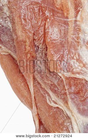 raw lamb meat closeup