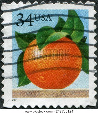 USA - CIRCA 2001: A postage stamp printed in USA shows Orange circa 2001