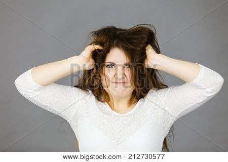 Attractive Woman Having Angry Frustrated Face Expression