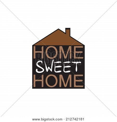 Vector illustration of abstract background with text. Home Sweet Home.
