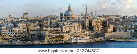 Panoramic View Of Valletta On Malta