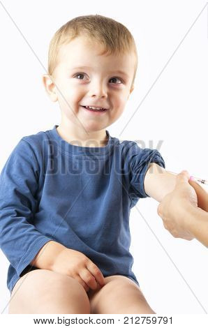 a child a vaccinations. A close up