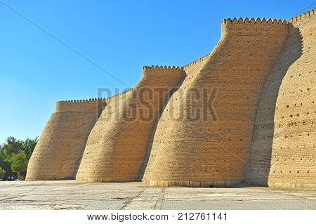 Bukhara: view of the old medieval fortification