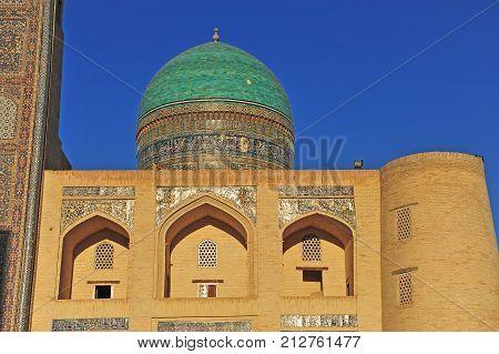 Bukhara: Mir i Arab madrasah on sunset