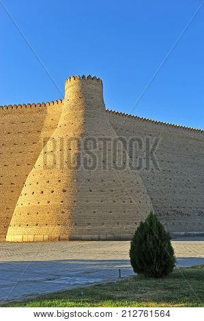 Bukhara: summer view of the old fortress