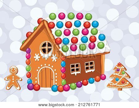Christmas Gingerbread House Background.Vector Xmas Card Vector Photo Free Trial Bigstock