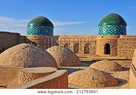 Khiva: view of the domes of old town