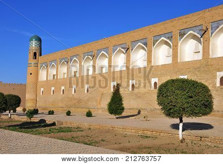 Khiva: medieval wall of an old town