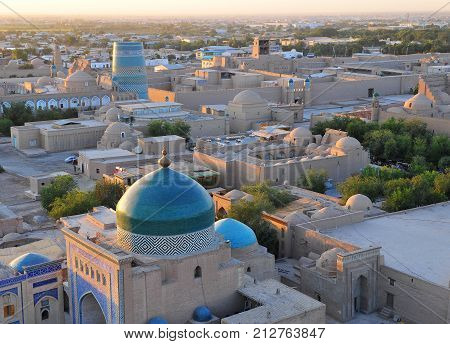 Khiva: domes and towers of old town