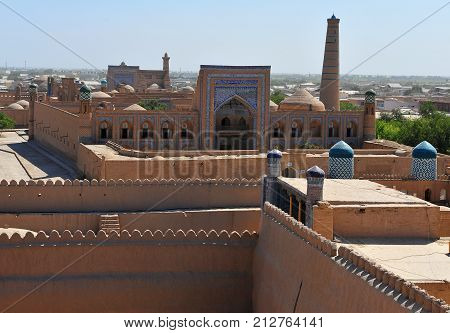 Khiva: view of the historical town in Uzbekistan