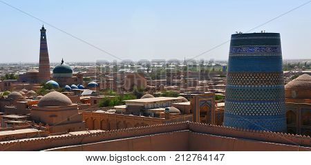Khiva: view of the towers and minarets