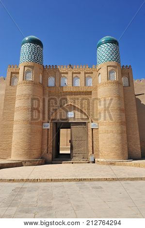 Khiva: the beautiful arch and city wall