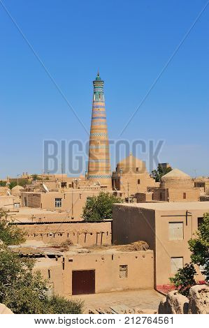 Khiva: the old town minaret and domes