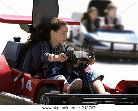 Girl On Go Cart