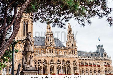 Vienna. City Hall Architecture in Vienna, Austria