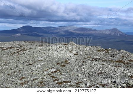 View From The Peak Of The Mountain Hovaerken In Sweden