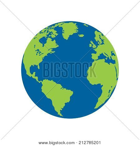 Vector planet Earth icon. flat planet earth icon. elat design vector illustration for web banner, web and mobile, eps10
