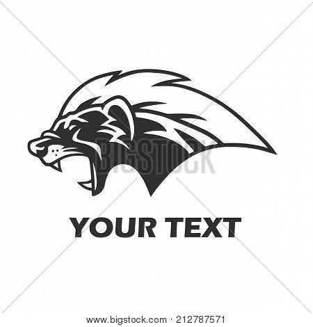 Honey Badger Mascot Logo Template Design Vector