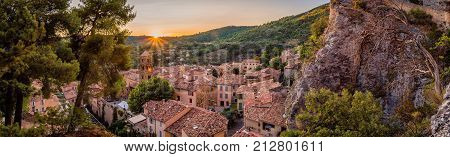 Panorama In Moustiers Sainte Marie