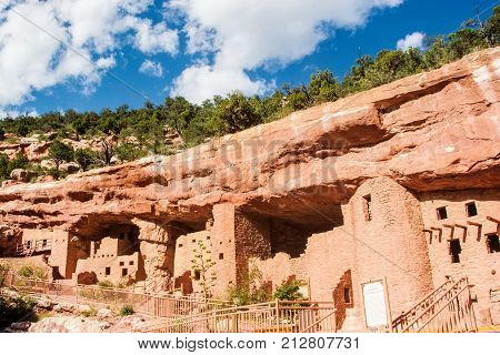 Ancient Cliff dwellings in Colorado Springs CO