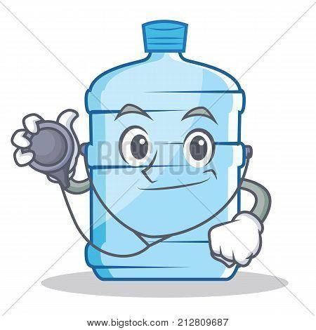 Doctor gallon character cartoon style vector illustration